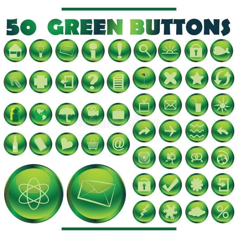 Grüne Tasten vektor abbildung