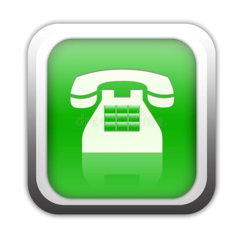 Grüne Telefontaste stock abbildung