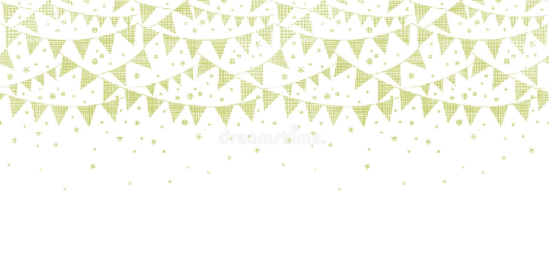 Grüne Textilpartei, die horizontales nahtloses mit dem Kopfe stößt stock abbildung