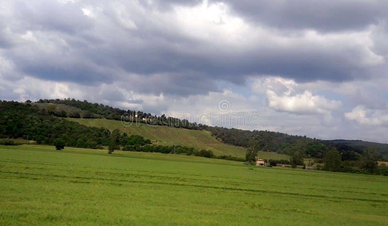 Grüne Toskana lizenzfreie stockfotografie