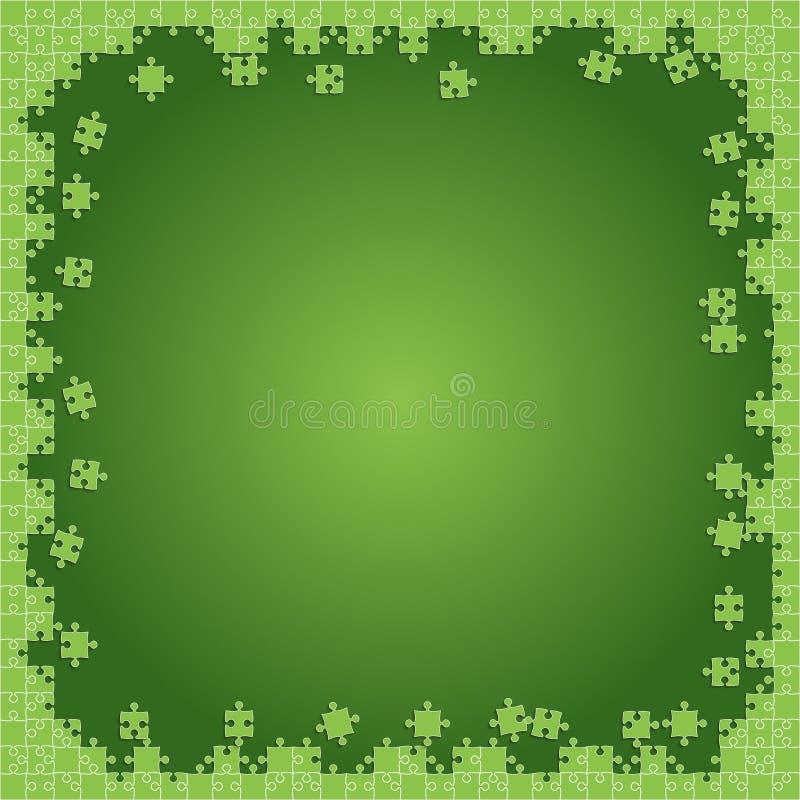 Grüne Transparente Puzzlespiel-Stücke - Vektor-Laubsäge Vektor ...