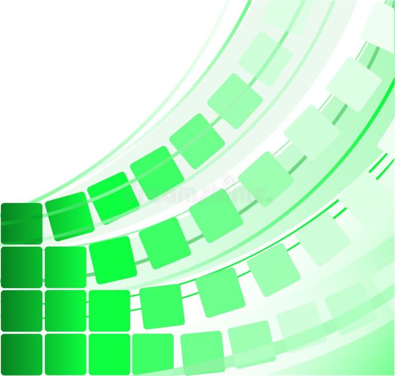 Grüne transparente Quadrate stock abbildung
