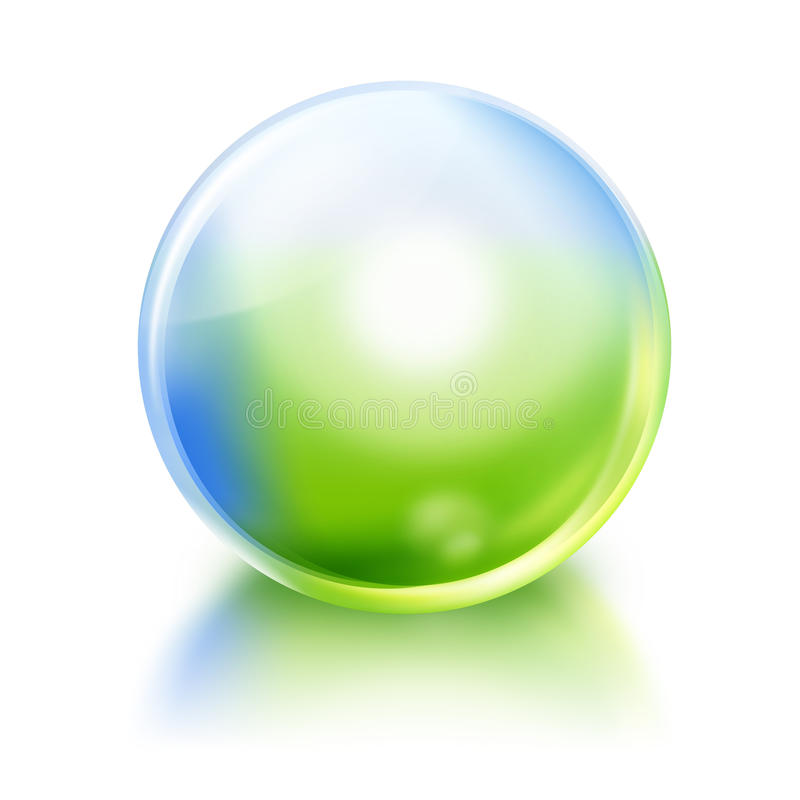 Grüne und blaue Natur-Kugel-Ikone vektor abbildung