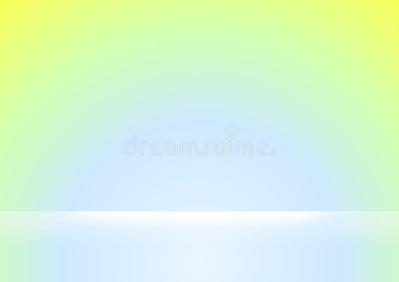 Grüne und blaue Steigungsfarben weich und weißer heller Glanz für Hintergrund, Grün und blaues weiches Farbsteigungstapetengr stock abbildung