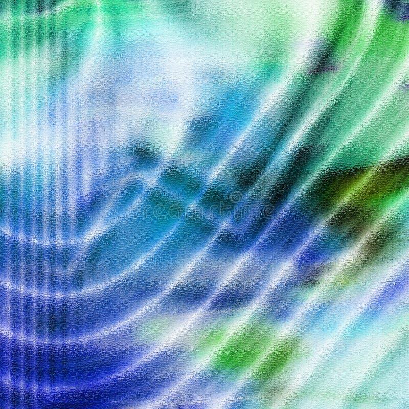 Grüne und blaue Zeilen stock abbildung