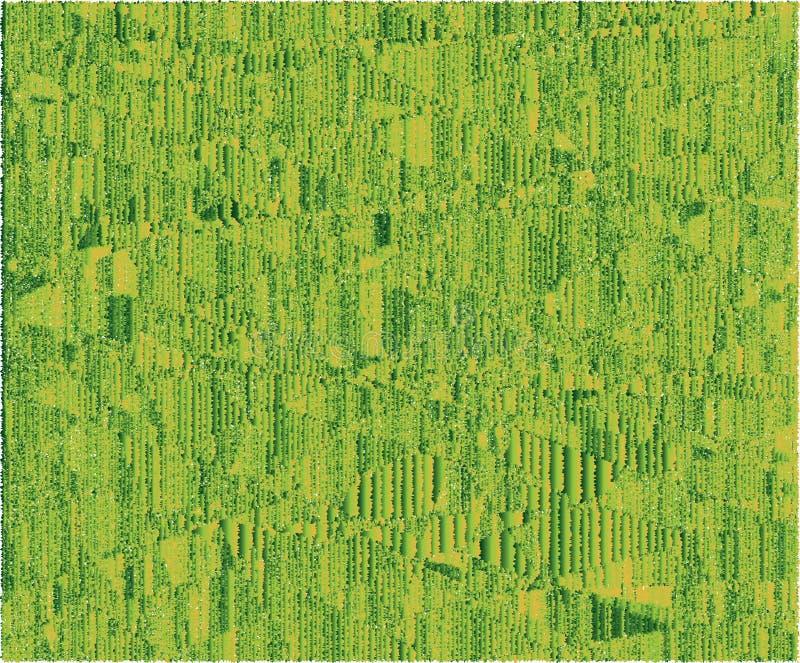 Grüne und gelbe Farben des ehrfürchtigen 'Teppichs ' stock abbildung