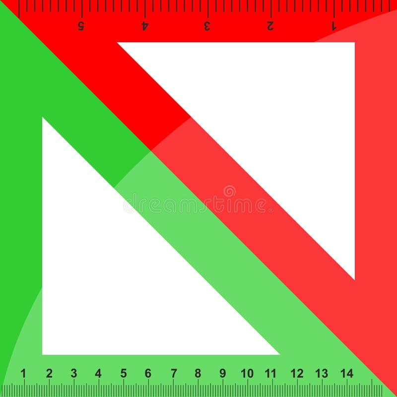 Grüne und rote Dreiecke lizenzfreie abbildung