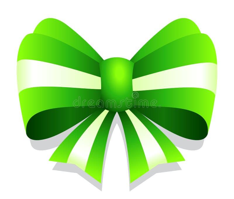 Grüne Vektorband-Bogengraphik lokalisiert auf weißem Hintergrund vektor abbildung