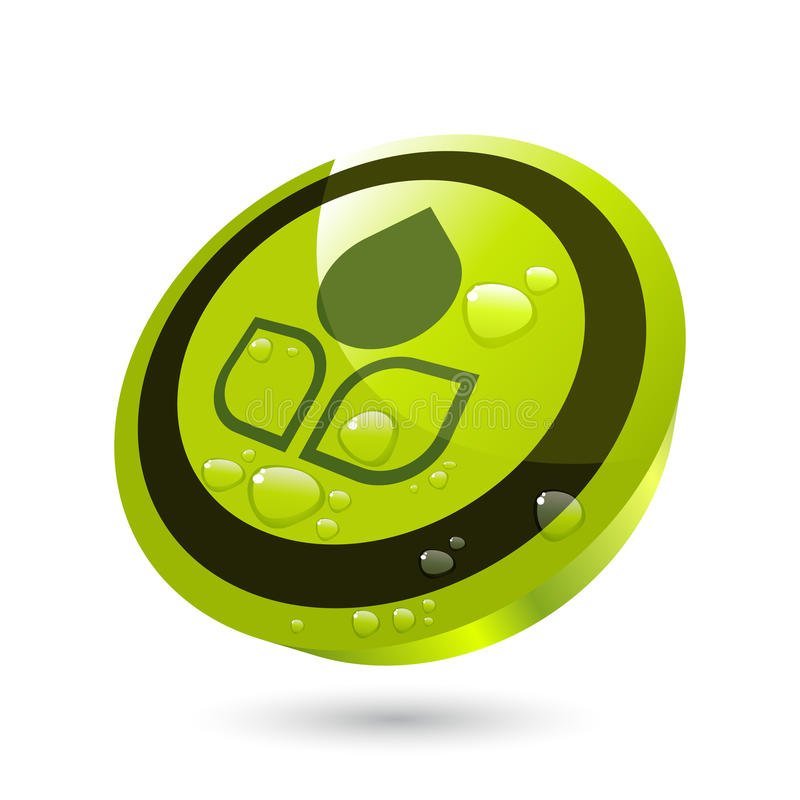 Grüne wachsende Taste vektor abbildung