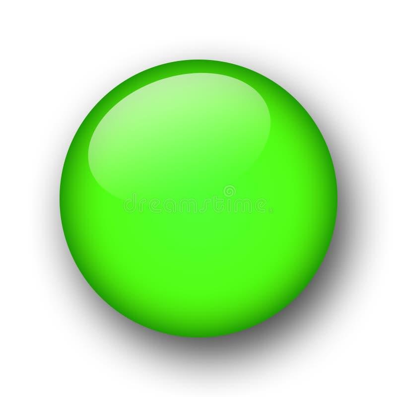 Grüne Web-Taste lizenzfreie abbildung