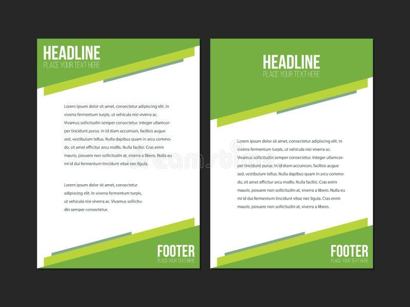 Grüne Weiße Broschüren-Broschüren-Fliegerschablone, Bucheinband ...