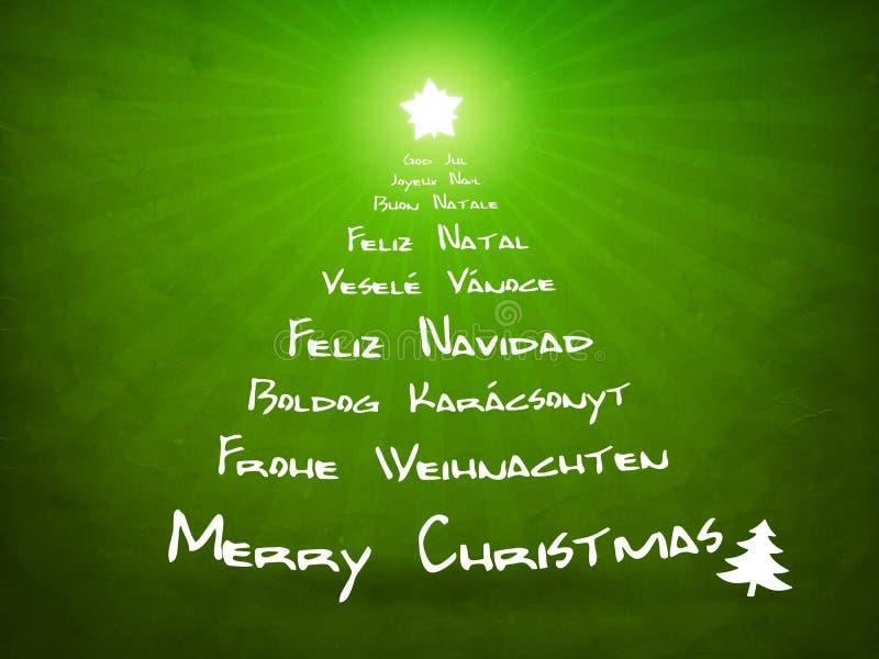 Grüne Weihnachtskarte vektor abbildung