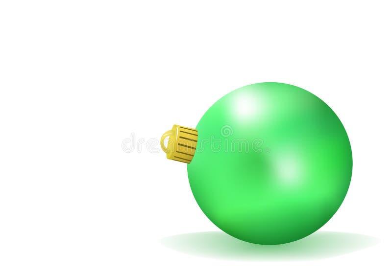 Grüne Weihnachtskugel stock abbildung