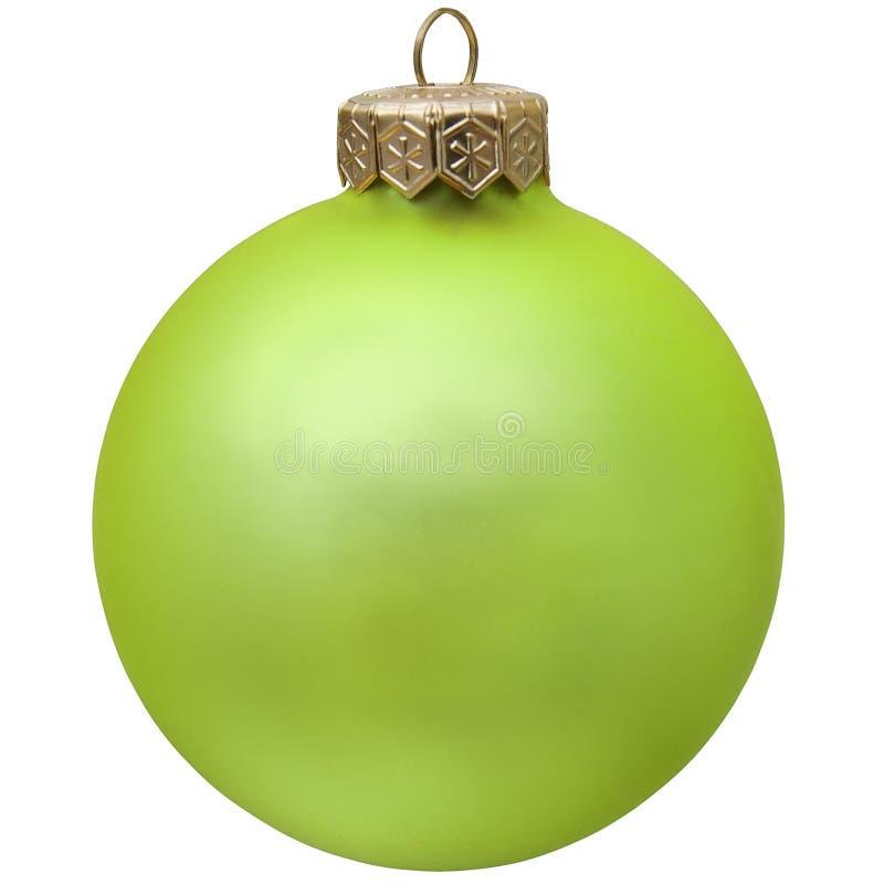 Grüne Weihnachtsverzierung. lizenzfreies stockfoto
