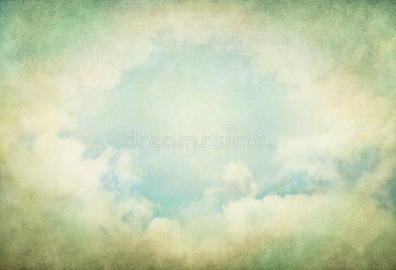 Grüne Weinlese-Wolken stockfotos