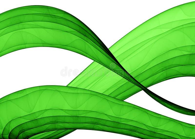 Grüne Wellen stock abbildung