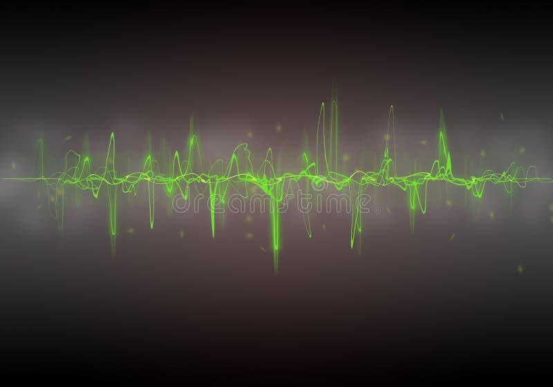 Grüne Wellen-Zusammenfassung stockfoto