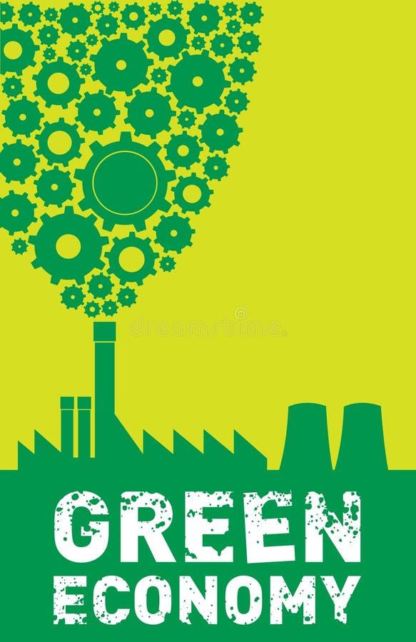 Grüne Wirtschaftlichkeit lizenzfreie abbildung