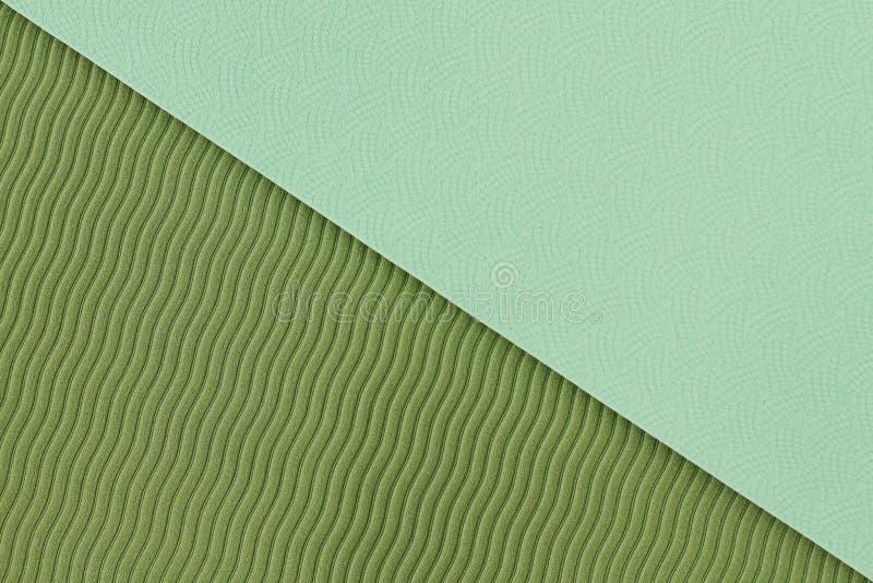 Grüne Yogamattenbeschaffenheit stockfoto
