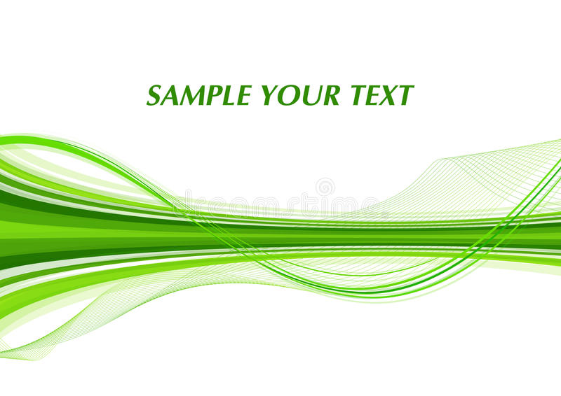 Grüne Zeile lizenzfreie abbildung