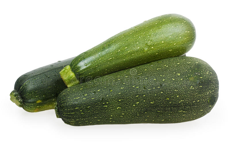 Grüne Zucchini drei stockfoto