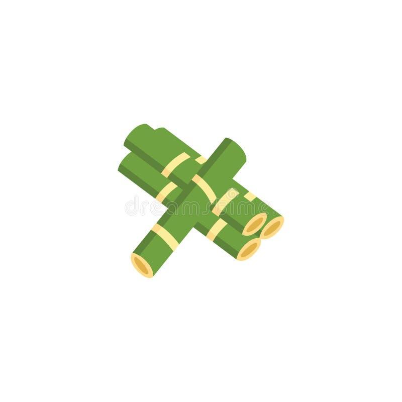 Grüne Zuckerrohr-Betriebsstiel-Stapelikone vektor abbildung