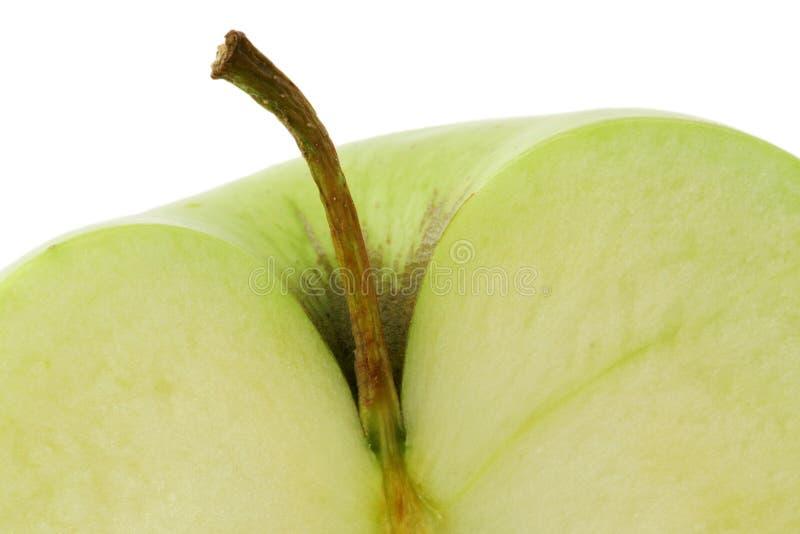 Grünen Sie Apfelhälfte lizenzfreies stockfoto