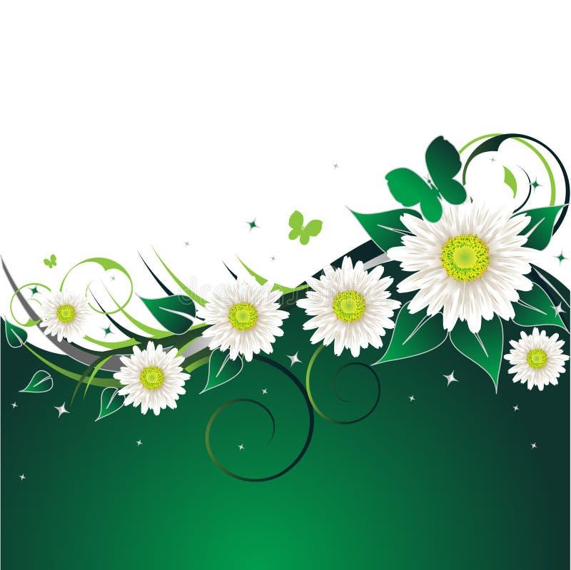 Grünen Sie Blumenhintergrund stock abbildung
