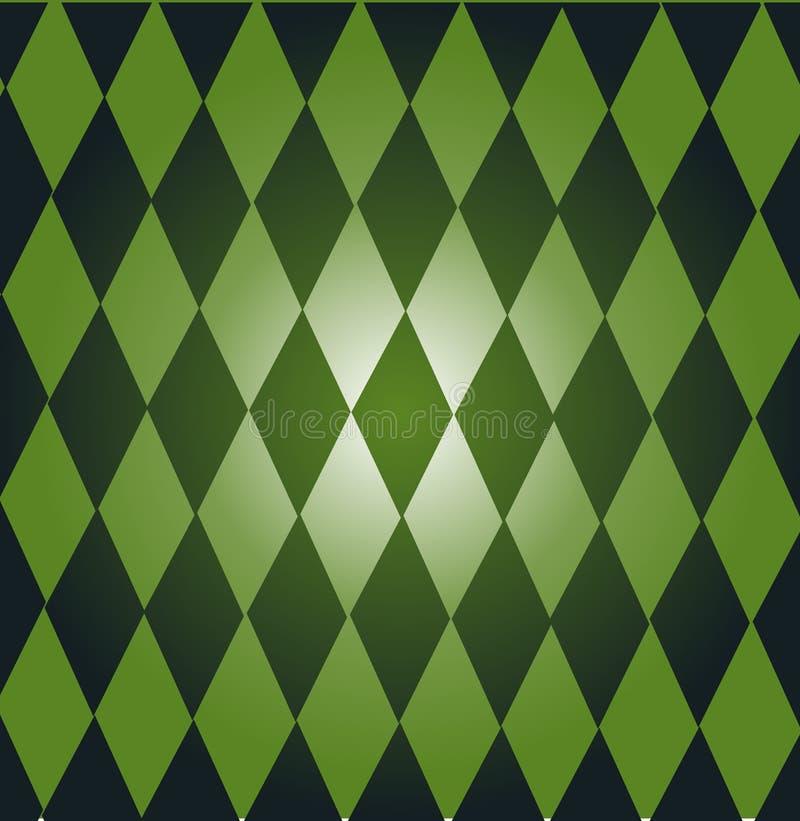 Grünen Sie Dominos stock abbildung