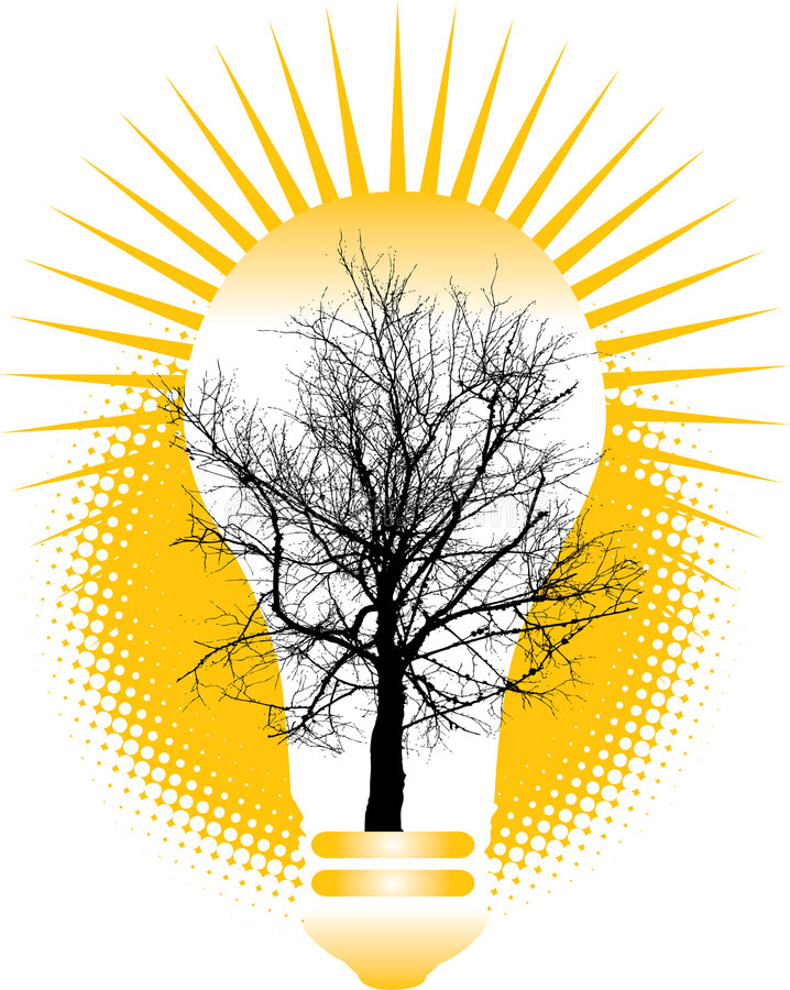 Grünen Sie Energiekonzept lizenzfreie abbildung