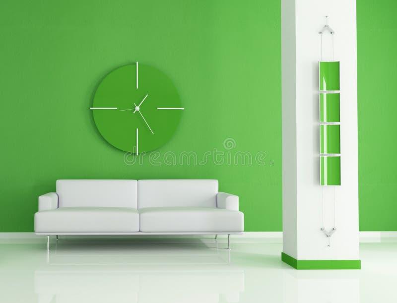 Grünen Sie Innenraum vektor abbildung