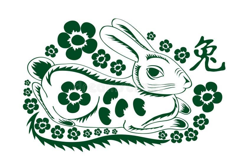 Grünen Sie Kaninchen vektor abbildung
