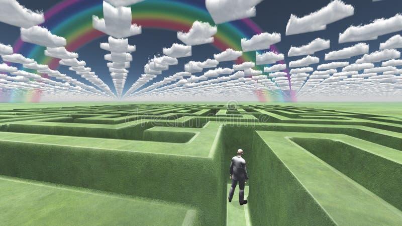 Grünen Sie Labyrinth lizenzfreie abbildung