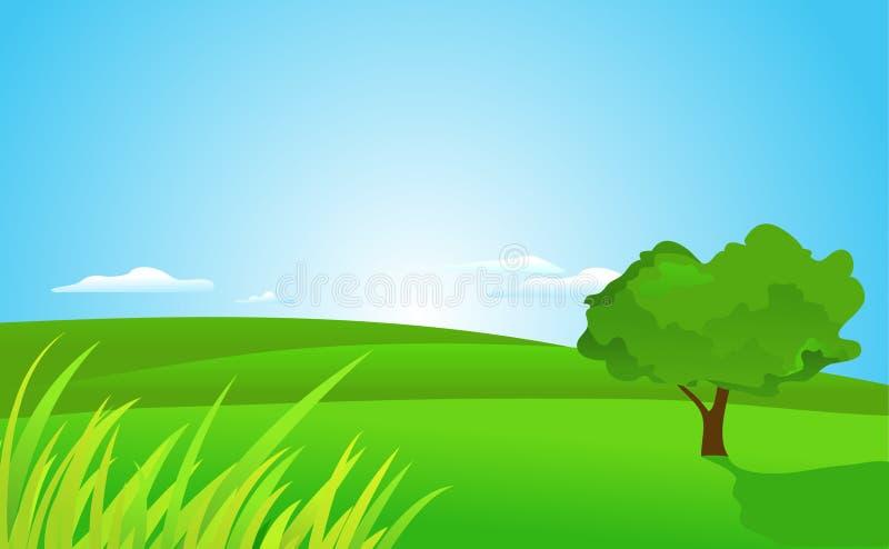 Grünen Sie Landschaft lizenzfreie abbildung
