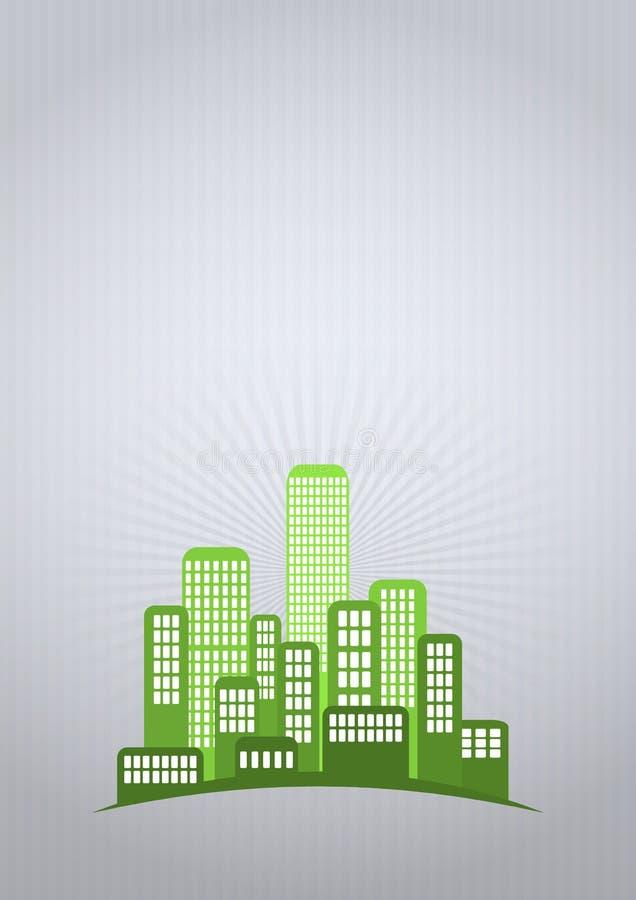 Grünen Sie Stadt lizenzfreie abbildung