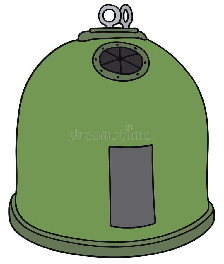 Grüner Abfallbehälter stock abbildung
