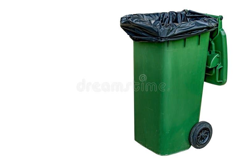 Grüner Abfalleimer lizenzfreie stockbilder