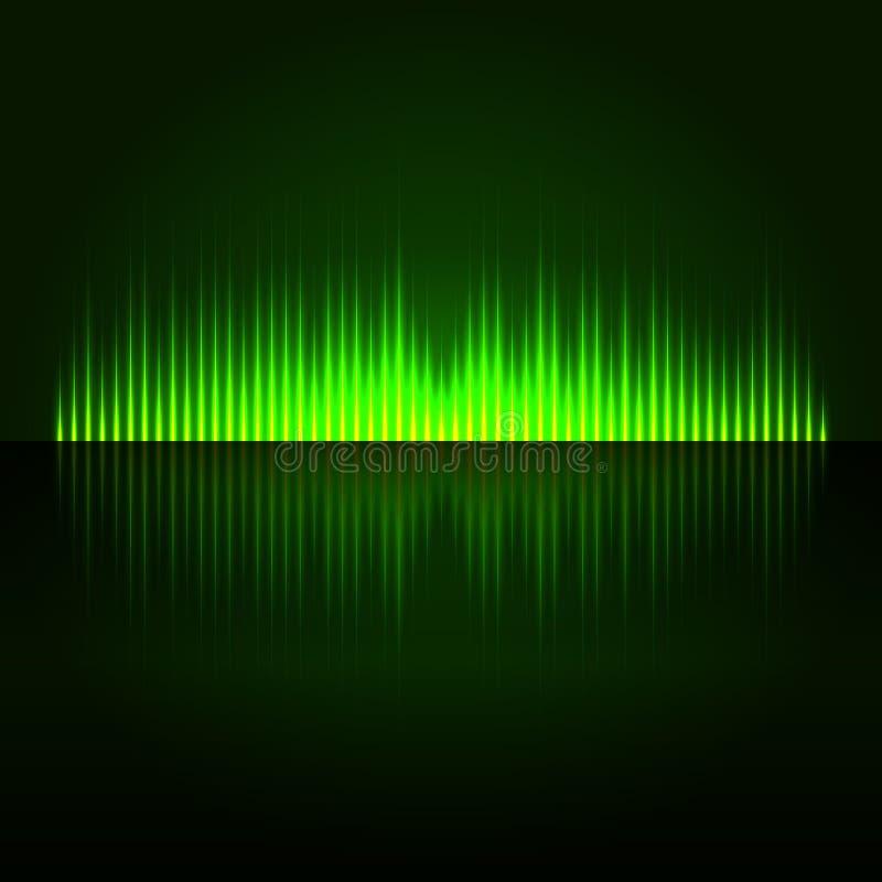 Grüner abstrakter Entzerrer-Hintergrund Digital lizenzfreie abbildung