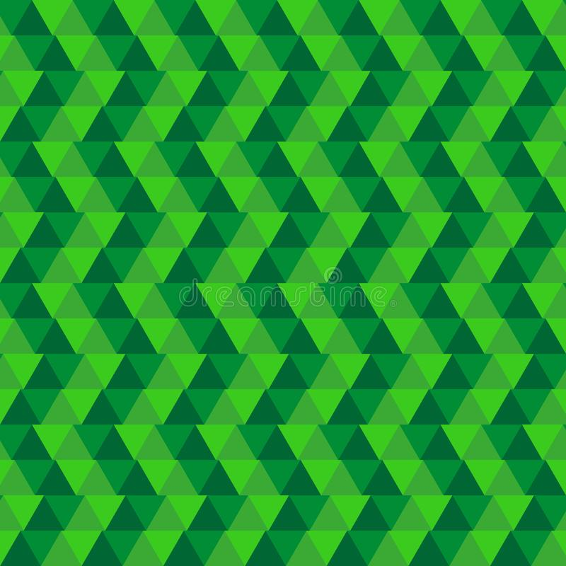 Grüner abstrakter geometrischer Hintergrund Hintergrunddreiecke lizenzfreie abbildung