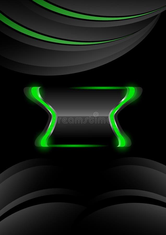 grüner abstrakter Hintergrund der Fahnen lizenzfreies stockbild