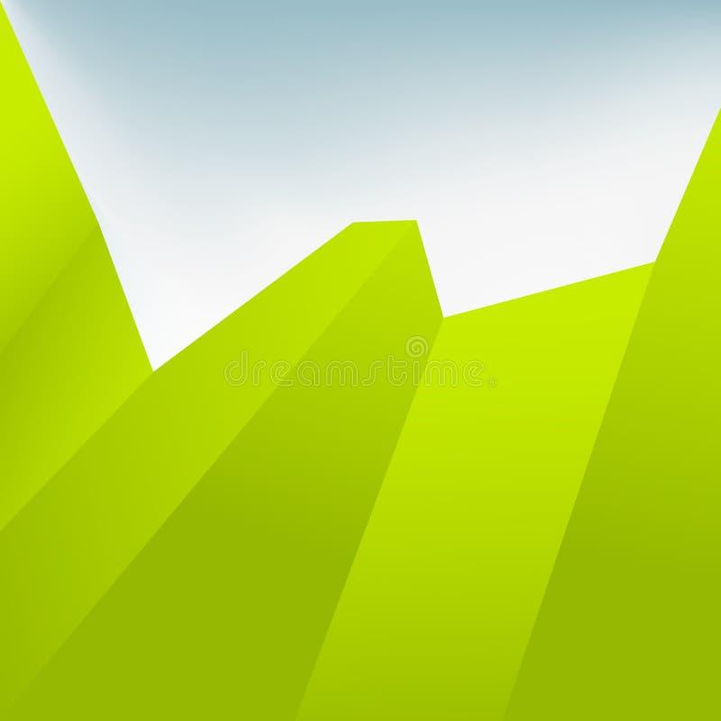 Grüner abstrakter Hintergrund. + EPS10 lizenzfreie abbildung
