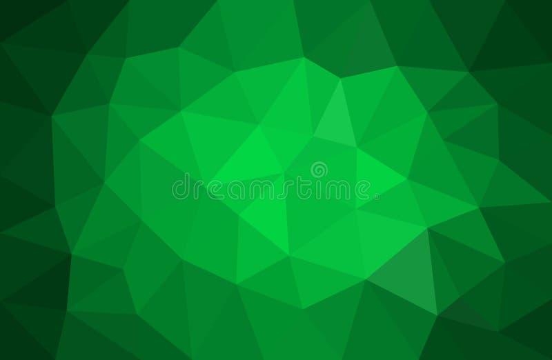 Grüner abstrakter Hintergrund für Weihnachten lizenzfreie abbildung