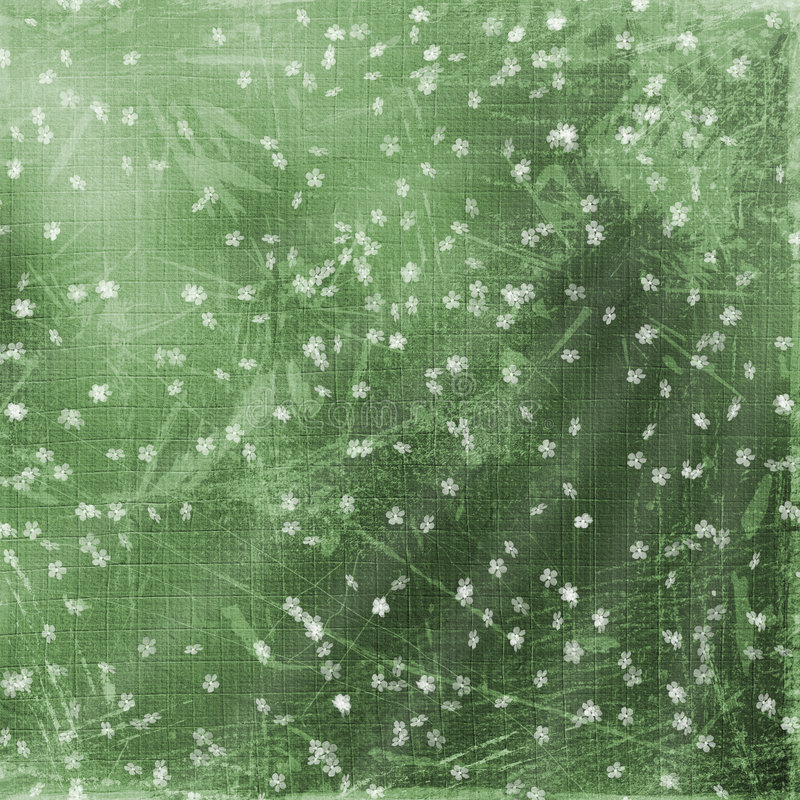 Grüner abstrakter Hintergrund mit Blumen vektor abbildung