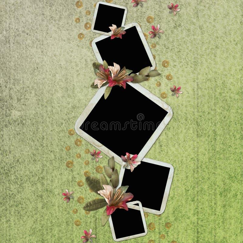 Download Grüner Abstrakter Hintergrund Mit Feldern Stock Abbildung - Illustration von feld, hochrot: 12203218
