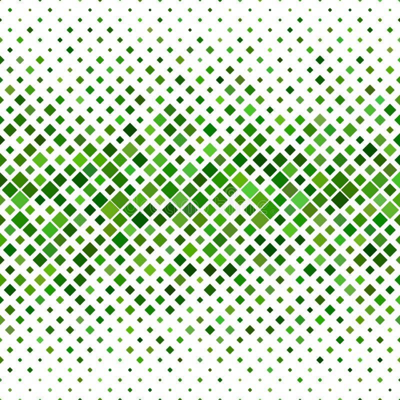 Grüner abstrakter quadratischer Musterhintergrund lizenzfreie abbildung