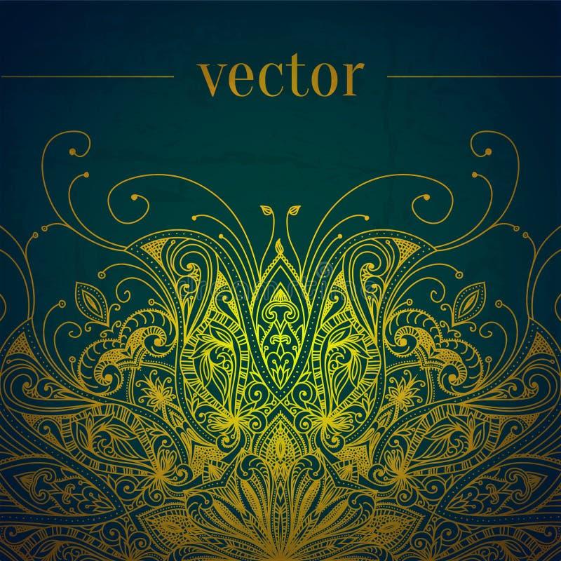 Grüner abstrakter vektorhintergrund Schnüren Sie sich Rand stock abbildung