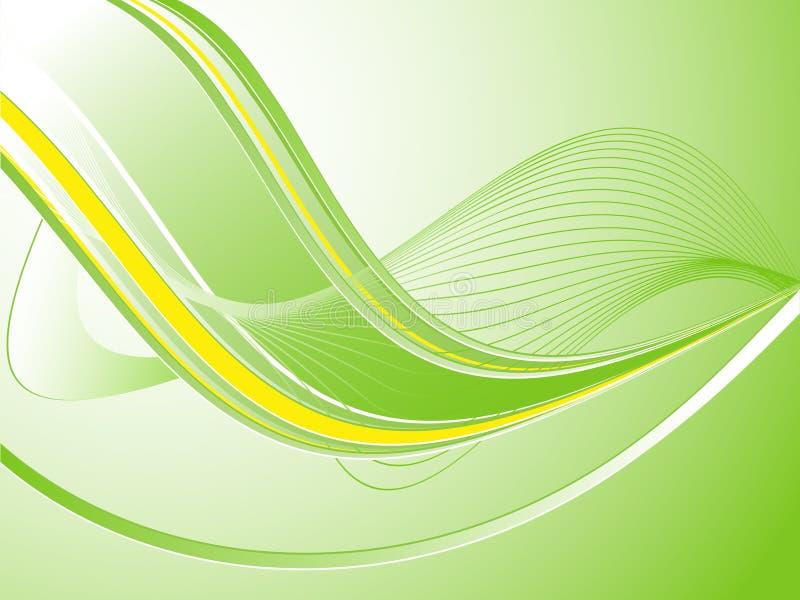 Grüner abstrakter wellenförmiger Vektor lizenzfreie abbildung