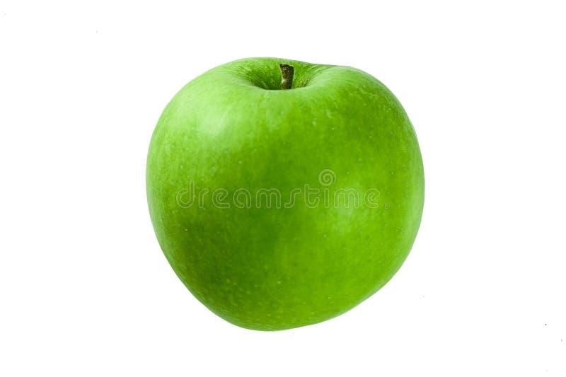 Grüner Apfel lokalisiert auf einem weißen Hintergrund stockfoto