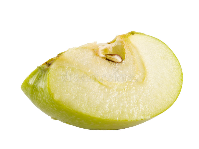 Grüner Apfelkeil lizenzfreie stockfotografie