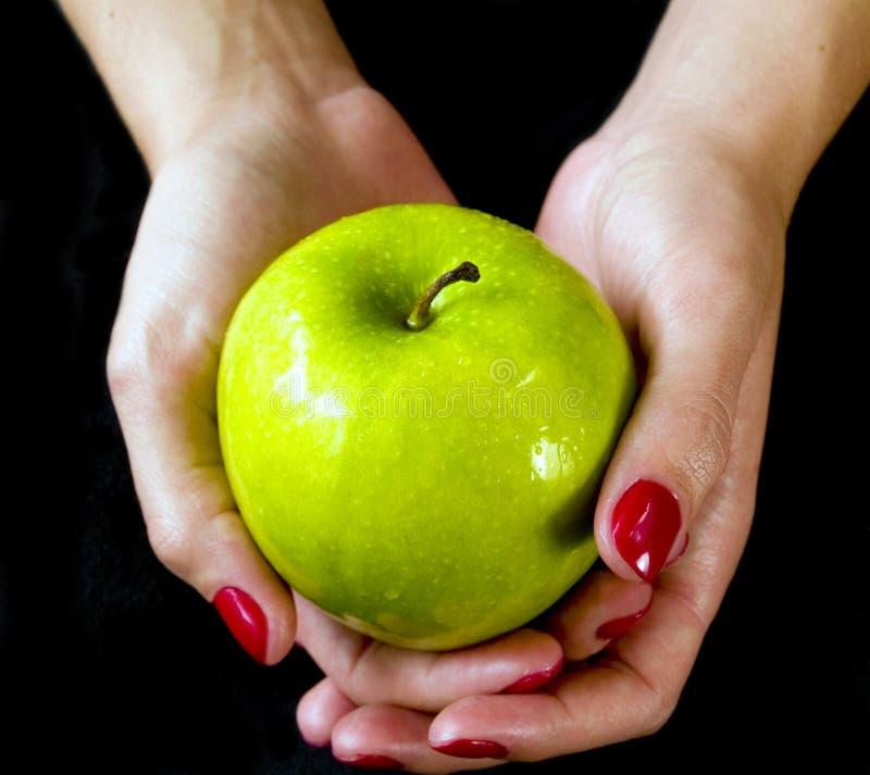 Grüner Apple lizenzfreie stockfotografie
